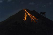 Arenal Volcano Costa Rica Erupting