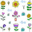 Vector art of spring set doodles
