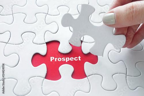Fotografie, Obraz  Prospect on jigsaw puzzle