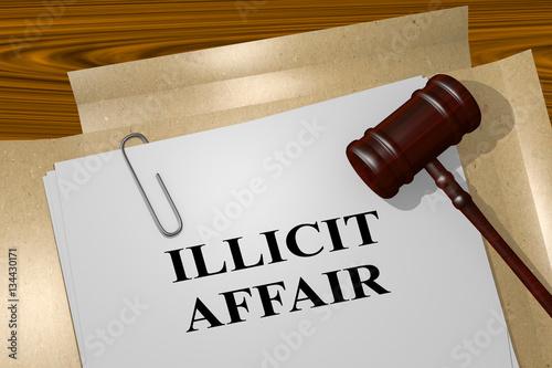 Illicit Affair - legal concept Canvas Print