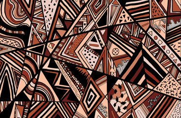 Abstract ethnic background is from different geometric shapes.Ve