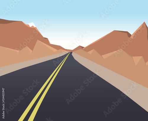 Poster Corail Mountain Landscape horizontal background. Vector illustration eps 10.