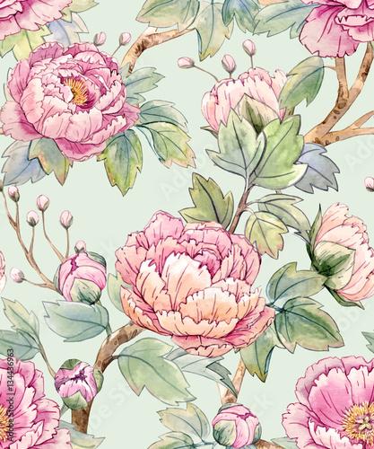 akwarela-kwiatowy-wzor-chinski