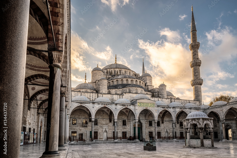 Fototapety, obrazy: The Blue Mosque Istanbul, Turkey. Sultanahmet Camii.
