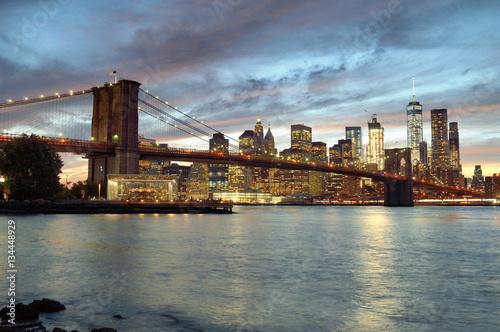 Poster London Sunset over a Manhattan.