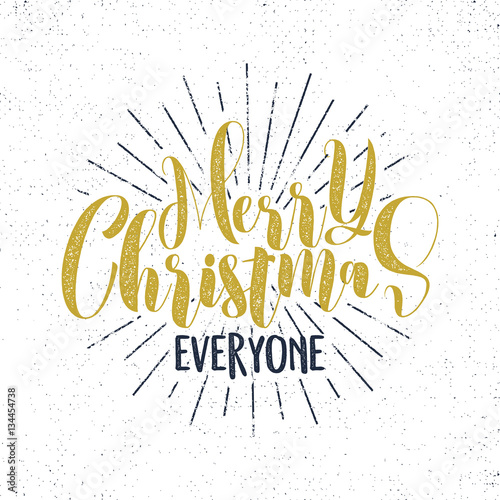 Merry christmas everyone lettering holiday wishe sayings and merry christmas everyone lettering holiday wishe sayings and vintage label seasons greetings calligraphy m4hsunfo