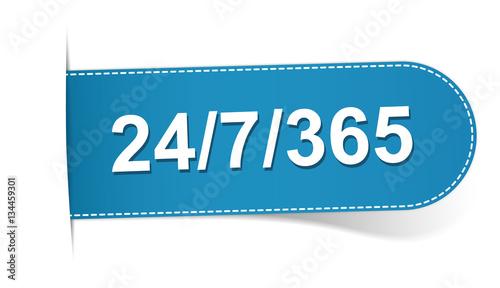 Fotografia, Obraz  24/7/365 blue bookmark banner