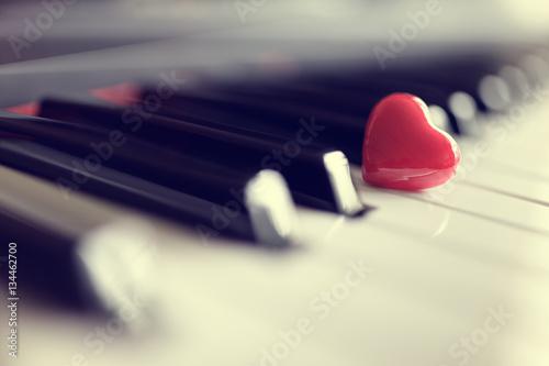 red-heart-on-piano-keys