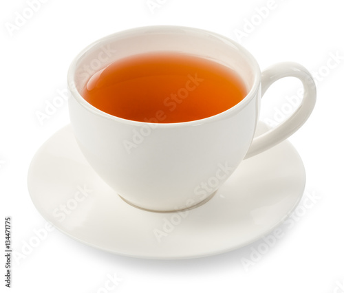 Carta da parati cup of tea on white background
