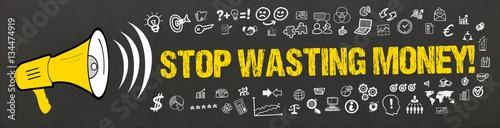 Fotografie, Obraz  Stop Wasting Money! / Megafon mit Symbole