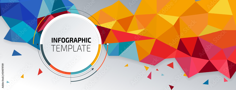 Fototapeta Flyer template header design. Banner