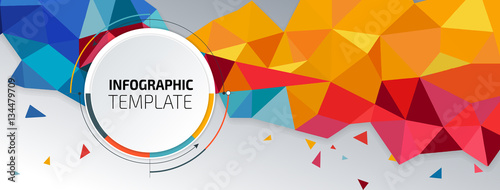 Fototapeta Flyer template header design. Banner obraz