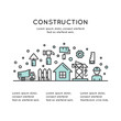 Isolated Vector Style Illustration One Page Web Site Template of Real Estate House Building and Business Company, Accommodation, Housing, Construction and Building