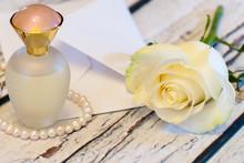 Beautiful White Rose String Of...