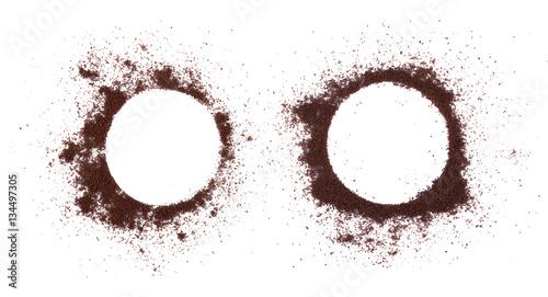 Poster de jardin Salle de cafe coffee powder on white background. top view