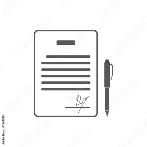 Business Contract With Signature Agreement Pact Accord