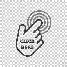 Click Here Icon. Hand Cursor S...