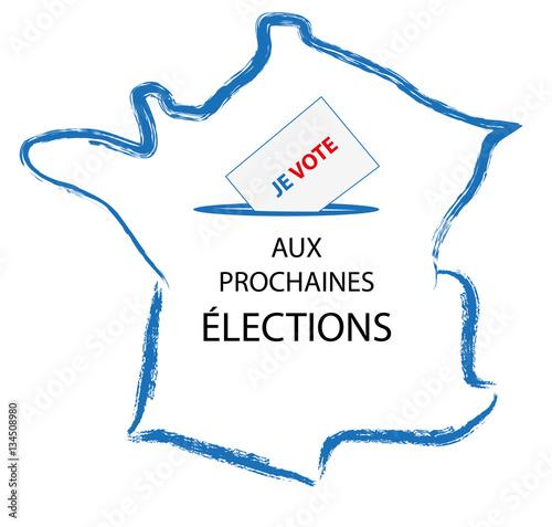 Poster  Je vote aux prochaines élections