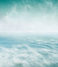 Swirling Sea And Fog. A Long E...
