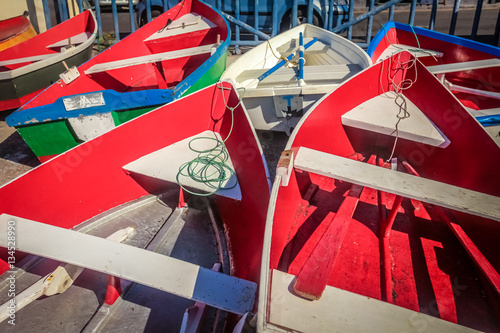 Deurstickers Canarische Eilanden Boats at La Gomera port