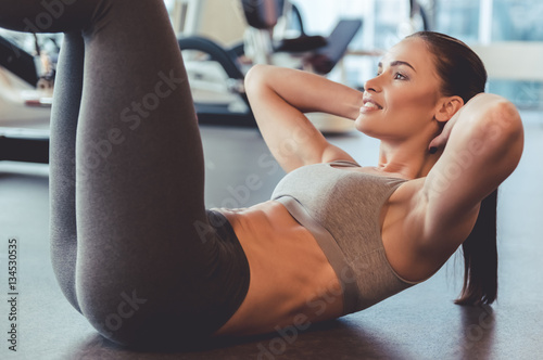 Fototapety, obrazy: Woman at the gym