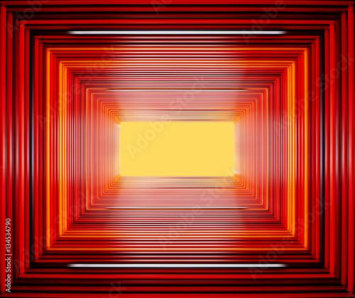 abstrakcyjny-tunel-zbudowany-z-czerwonych-ramek
