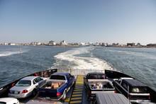 Ferry From Cape Hatteras To Ocracoke Island, North Carolina.