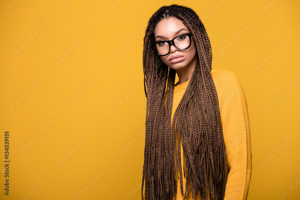 Fototapety, obrazy: Portrait of fashionable young girl.