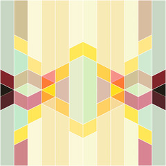 Fototapeta Vector abstract colorful geometric pattern retro and art deco st