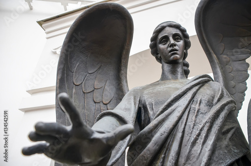 Staande foto Artistiek mon. Angel monument on Nemiga Square. Minsk, Belarus.