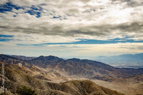 Desert view merging into urban landscape at Joshua Tree National Park Canvas Print