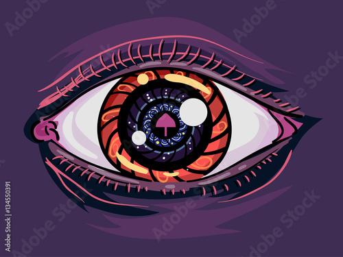 Photo  Psychedelic Mushroom Eye Addict