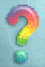 Question Mark Pixel Art Design