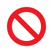 No Sign Icon Vector Transparent