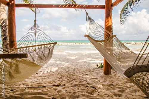 Fotografie, Obraz  Hammocks on Beach