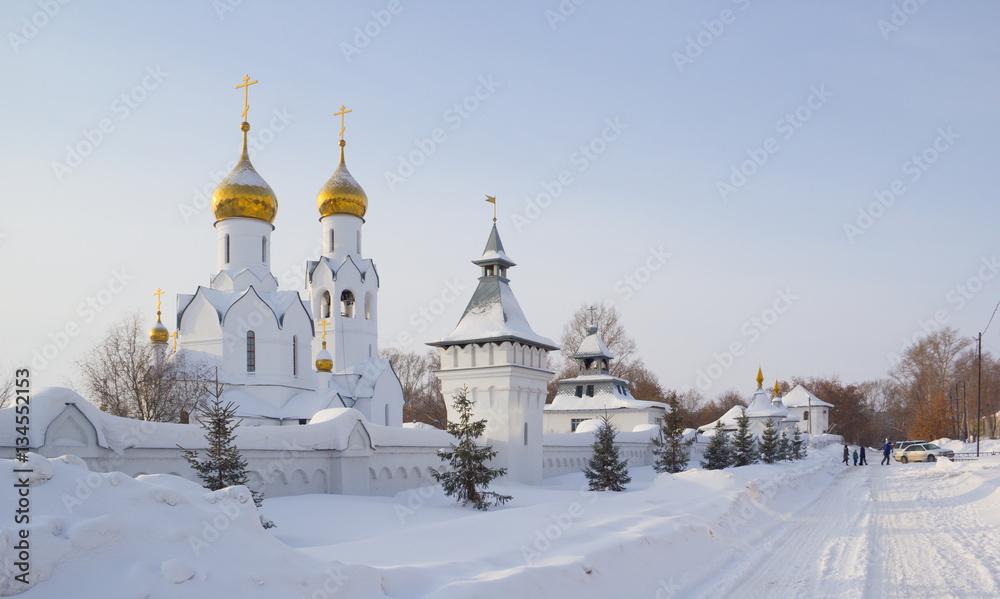 Fototapety, obrazy: Archistrategos Mikhail church in Novosibirsk. Russia