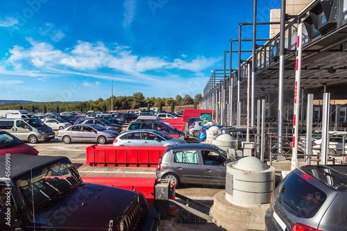 Foto op Plexiglas Motorsport Toll station in France