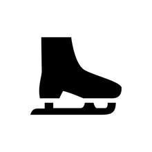 Ice Skate Icon Illustration