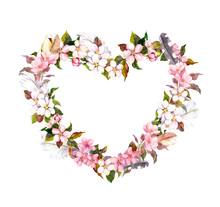 Floral Wreath - Heart Shape. P...