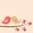 Leinwandbild Motiv Loving Birds