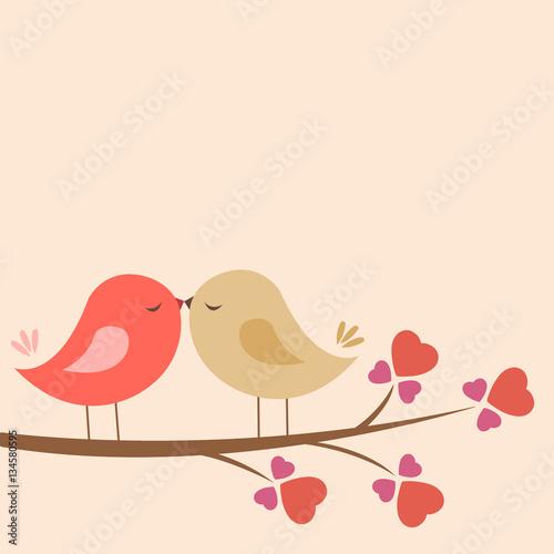 Loving Birds Wall mural