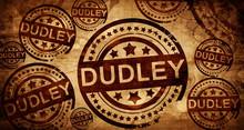 Dudley, Vintage Stamp On Paper...