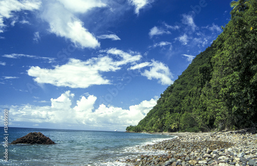 In de dag Fantasie Landschap Champagne beach, Dominica
