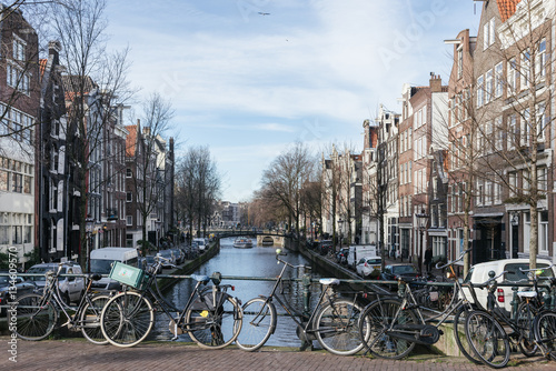 Amsterdam canals in winter #134609570