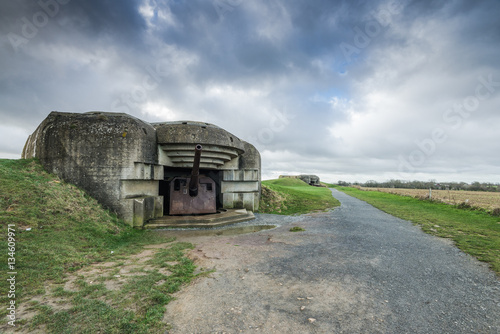 Poster  German bunkers and artillery in Normandy,France
