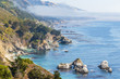 View of the Pacific Ocean and the coast, Big Sur, California, usa