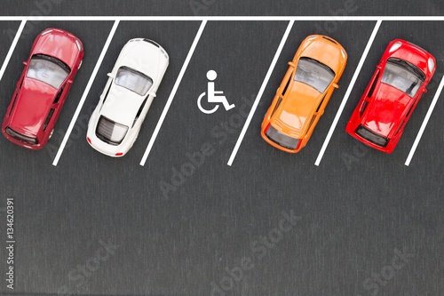 Fototapety, obrazy: Parking for the disabled