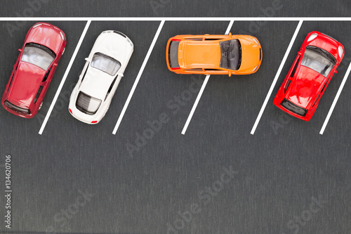 Fototapety, obrazy: Bad parking. Improperly parked car