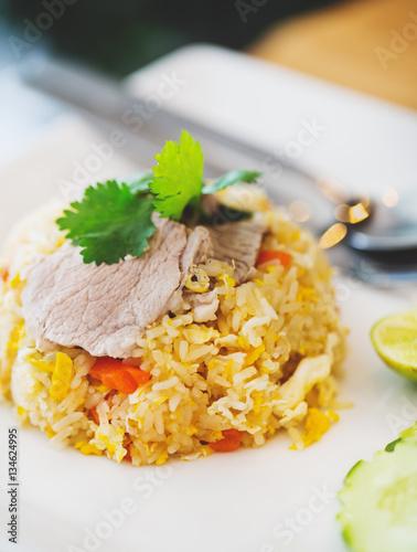 pork fried rice,thai food Canvas-taulu