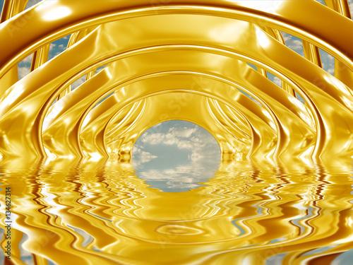 abstrakcyjna-struktura-bioniczna-odbicie-w-tafli-wody